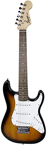 - Squier by Fender Mini Strat Electric Guitar - Brown Sunburst