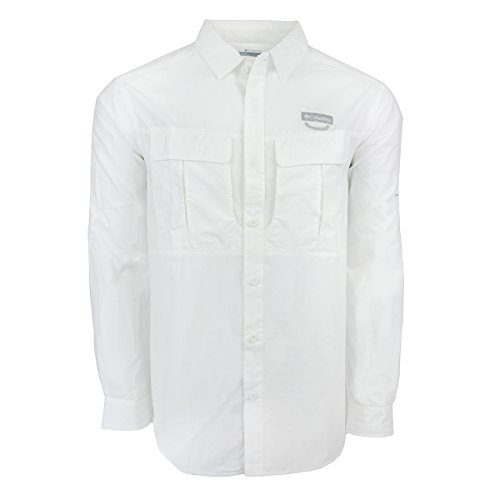 Columbia Men's Cascades Explorer Long Sleeve Shirt, White, (Columbia Golf Vest)