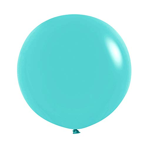 Neo LOONS 36 Inch Giant Latex Balloons, Pastel Tiffany Blue Round Balloons for Birthdays Weddings Receptions Festival Party Decoration, Pack of 5 Pcs