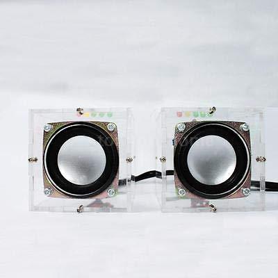 FidgetFidget Electronic Mini Remarkable Transparent Speaker Box DIY Kit Sound Amplifier 2JM3