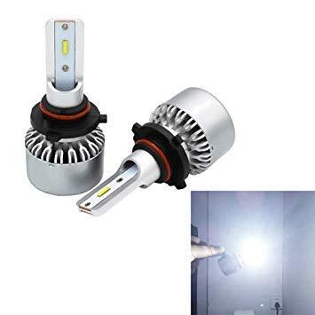 Uniqus 2 PCS Auto Car 9006 HB4 60W 4000LM 6000-6500K Pure White CSP LED Headlight Bulbs Conversion Kit, DC 11-30V