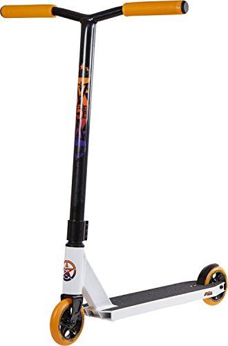 5Starr Sector 5 2018 Pro Scooter, White/Orange  (Orange Pro Scooter Clamps)