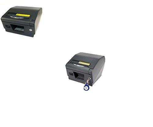 (Star Micronics TSP800 Series Thermal printer, Auto-cutter/Tear Bar, USB, Gray, Paper Lock, External Power Supply)