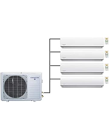 Thermocore 45000 BTU Quad Zone Ductless Split Air Conditioner Heat Pump 9000 + 12000 x 3