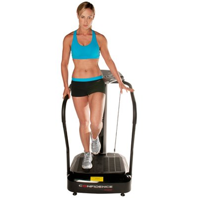Confidence Fitness Slim Full Body Vibration Platform Fitness Machine, Black by Confidence (Image #2)