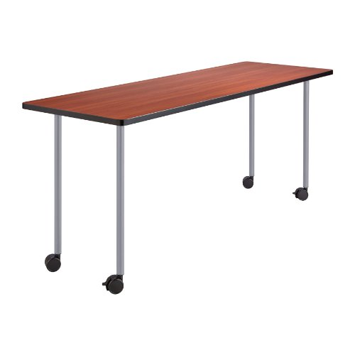 Series Mobile Rectangular Training Tables - Safco Products 2074SL Impromptu Mobile Training Table Post-Leg Base 28