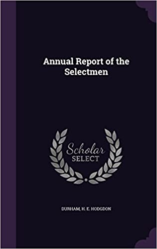 Book Annual Report of the Selectmen