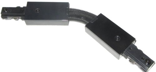 Connector Flexible Track (H Type Black Track Lighting Flex Connector - Halo - Flexible Joint - 90 Degree Angle)