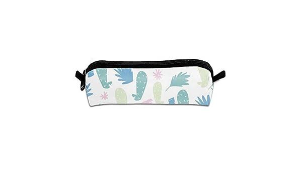 Kauai Cactus - Estuche de poliéster para lápices, cosméticos, maquillaje, papelería, oficina, material escolar, 21 x 5,5 x 5 cm: Amazon.es: Oficina y papelería