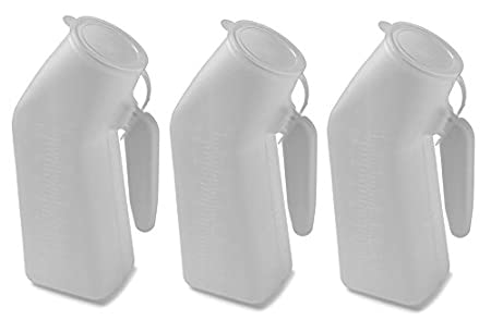 1 Vakly Deluxe 32oz Male Urinal With Cover COMIN18JU073749