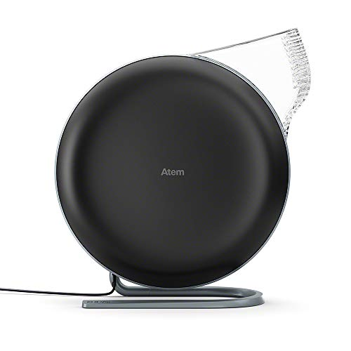 IQAir [Atem Desk Personal Air Purifier [HyperHEPA Filter, up to 150 sq.ft. coverage] Allergies, Pets, Asthma, Pollen, Dust; Swiss Made (Black)