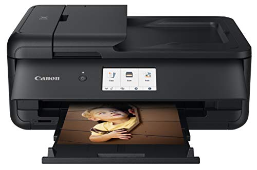 Canon PIXMA TS9520 Wireless Photo All In One Printer | Scanner | Copier | Mobile Printing With AirPrint And Google Cloud Print, Black, Amazon Dash Replenishment Ready