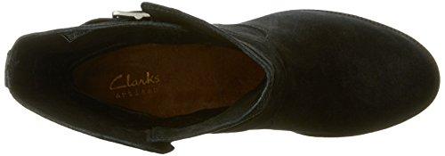 Women's Clarks Doris 7 Malvet B Black Boot Suede 5 M 1qqnPdHU4