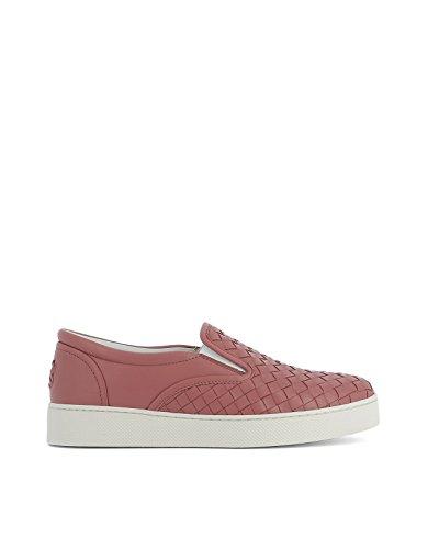Cuir 370760V00135707 Chaussures De Bottega Veneta Femme Rose Skate IwxEFA8qF