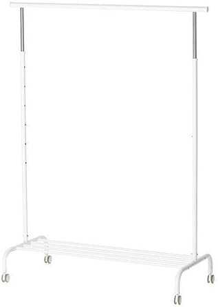 Ikea Rigga Coat And Hat Stand White Metal 111 X 51 X 126 Cm
