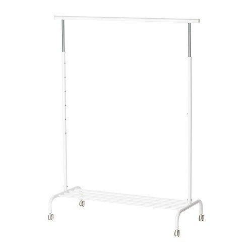 IKEA RIGGA- Perchero de pie, (altura máx.) 175 cm x 111 cm x 51 cm, color blanco, 2: Amazon.es: Hogar