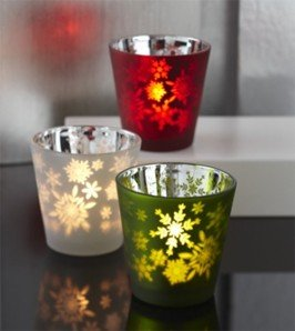partylite christmas holiday peace tea light trio candle holders decoration