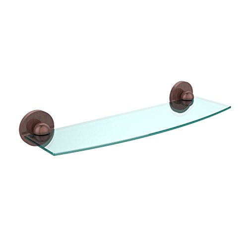 "UPC 013895764957, Allied Brass 1033/18-CA 18"" Beveled 1/4"" Glass Shelf Antique Copper"
