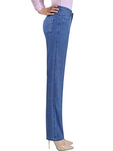 Estate Jeans attillati Azzurro vita alta Donna Bigassets A pwU8q64nB