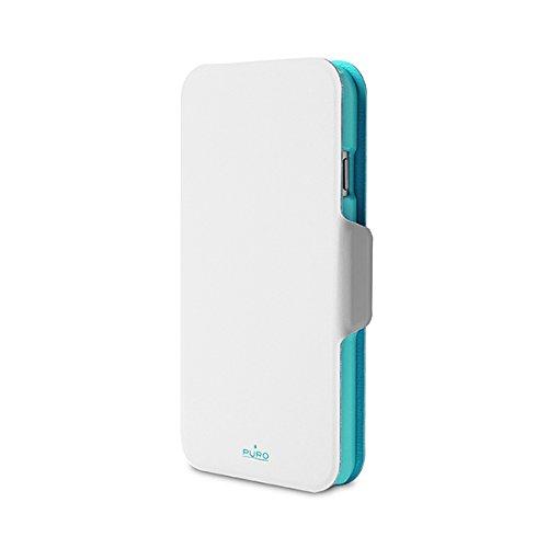 IPC647WALLETWHI1 Puro Schutzhülle für Apple iPhone 6 4,7 Zoll, weiß/hellblau