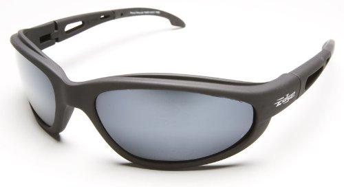 (3 Pack Edge Eyewear TSM21-G15-7 Dakura Safety Glasses Black Frames Polarized G-15 Silver Mirror Lens)