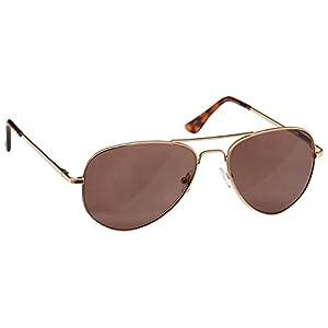 The Reading Glasses Company Gold Sun Readers UV400 Aviator Style Mens Womens S8-9 +1.00
