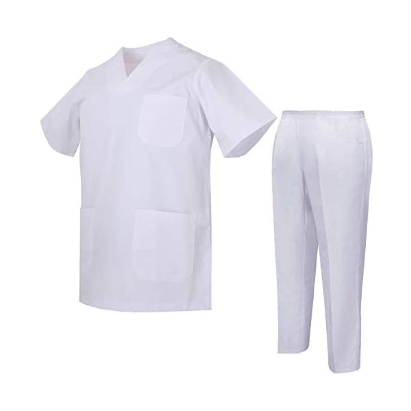 MISEMIYA Uniforms Unisex Scrub Set Conjunto de Trabajo para Hombre 3