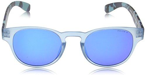 Frame Transparant Blue de Mirror sol Exchange Matt 2 S1945 Gafas Blue Redondas Lens Camouflage Azure Grey amp; Pale Semi Violet Police zSAxn1aqSw