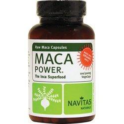Navitas Naturals organique Raw Maca poudre Vegcaps, 100 comte