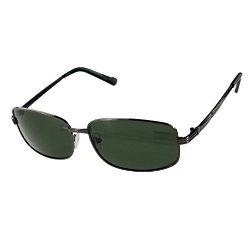 Dark Green Frame - M-Egal Classic Eyewear Unisex Metal Frame Polarized Sunglasses Gun Frame&Dark Green Lens Eyes Wear
