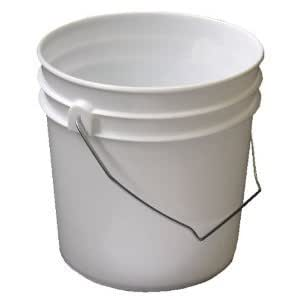 2 gallon Food Grade and BPA Free White plastic bucket with handle & Lid - Set of 3