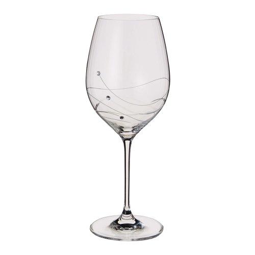 Dartington Crystal Glitz Red Goblet Wine Glasses, Set of - Wine Glasses John Lewis
