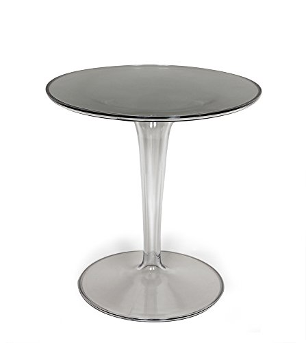 (2xhome - Tiptop Cafe Table - Tip Top Tulip End Table Side Table - Philippe Starck & Eugeni Quitlet Designed, Coffee Tea Restaurant Nightstand Night Stand Game Mono Small Mini)