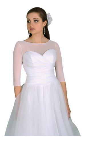 Amazon.com: OssaFashion-BridalWear Bridal Tulle Bolero Shrug Dress T ...