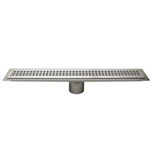 Schluter Kerdi-Line Brushed Stainless Steel 40 in. Metal Perforated Drain Grate Assembly by Schluter Systems