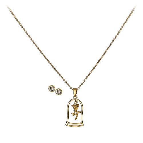 Disney Belle Jewelry Set for Girls - Beauty and the Beast Metallic