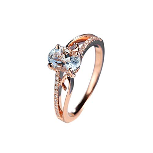 Girls, Clearance Sale! Iuhan Exquisite Women Oval Ring Diamond Jewelry Bride Engagement Wedding Promised Ring (10) ()