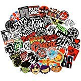 Band Stickers [100PCS] Rock and Roll Music Stickers Pack Vinyl Waterproof Stickers for Electronic Organ Guitar Piano Violin Drum kit Flute Brass Decals and Stickers for Laptop Skateboard Luggage ()