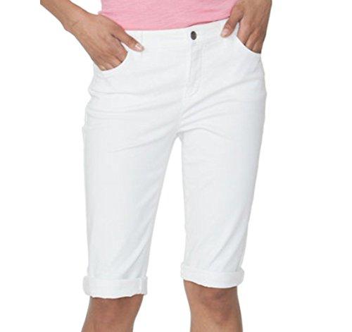 Chaps Women's Cuffed Twill Capris (White, 16) - Twill Cuffed Capri