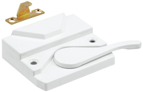 (Prime-Line Products H 3953 Sash Lock and Keeper, Right Hand, White)
