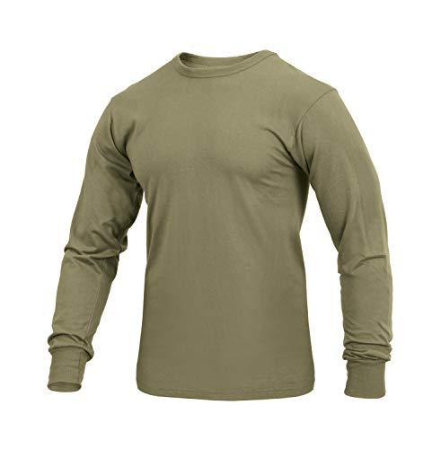 Rothco Long Sleeve Solid T-Shirt, AR 670-1 Coyote Brown, Large (Iii Long Sleeve T-shirt)