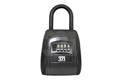 REALTOR KEY LOCK BOX Safe vault -Combination 4 Pin Lock - Knob Mounted for Maximum Security - Master Heavy Duty Slimline Keys Storage System by 321 Locks