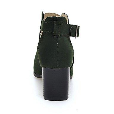 LvYuan Mujer-Tacón Robusto-Otro-Sandalias-Informal-Semicuero-Negro Almendra Ejército verde almond