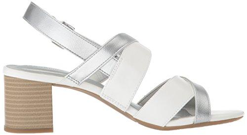 Bandolino Womens Stepa Heeled Sandal White/Silver F6R8vbuJd