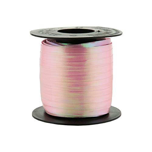 Berwick 3/16-Inch Wide by 250 Yard Spool Uncrimped Iridescent Curling Ribbon, Pink ()