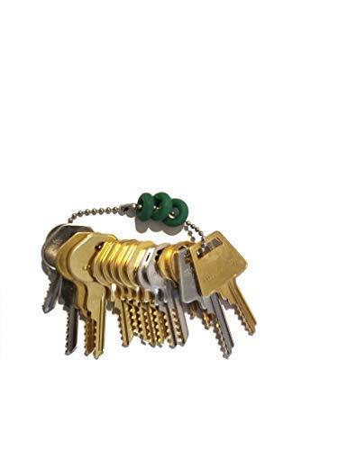Key Ring Padlock - MSPowerstrange Professional Padlock 15 Keys Depth Key Set with Bump Rings