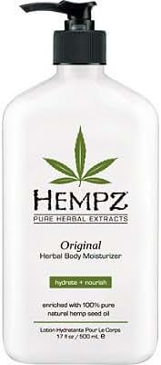 Hempz Original Herbal Body Moisturizer with Hemp Seed Oil, 17 Ounce