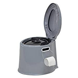 Denny International 【LIGHT WEIGHT】 Large 6L Compact Portable Toilet Potty Loo with Washable Basket and Toilet Roll Holder for Pool Party Camping Caravan Picnic & Festivals