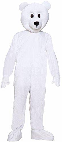 Forum Novelties Men's Norm The Nordic Bear Plush Mascot Costume, White, One Size]()