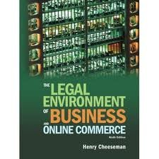 Download Legal Environment of Business and Online Commerce 6th (sixth) edition pdf